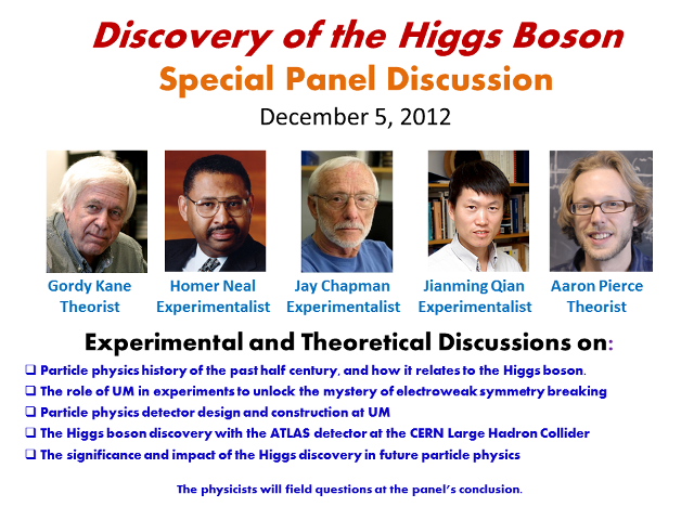 Higgs Boson Special Panel Discussion Poster
